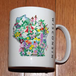 mug wi wildflowers