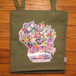 wi wildflowers tote