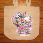 WI Wildflowers tote natural