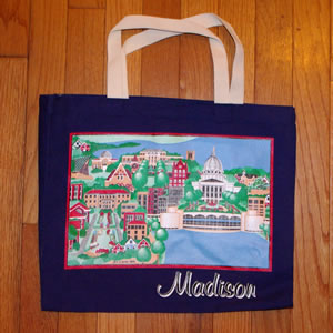 madison tote navy